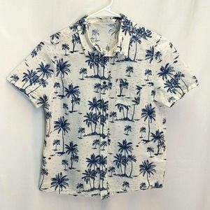 H&M Boys sz 11-12 buttoned Hawaiian shirt